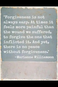 Forgiveness is not always easy. At times it feels more painful than the wound we suffered, to forgive the one that inflicted it. And yet, there is no peace without #forgiveness.
