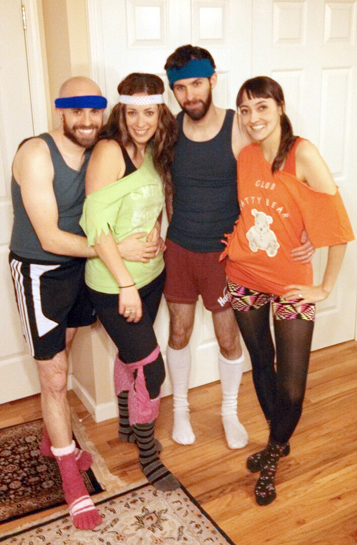 Rehearsing for the annual music video with the cousins, '80s jazzercise style. Metallo Films. {Piloting Paper Airplanes}