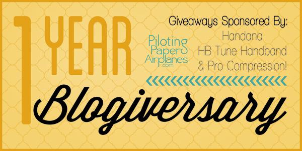 1 year Blogiversary {PilotingPaperAirplanes.com}