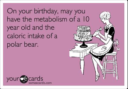 Metabolism birthday ecard {PilotingPaperAirplanes.com}