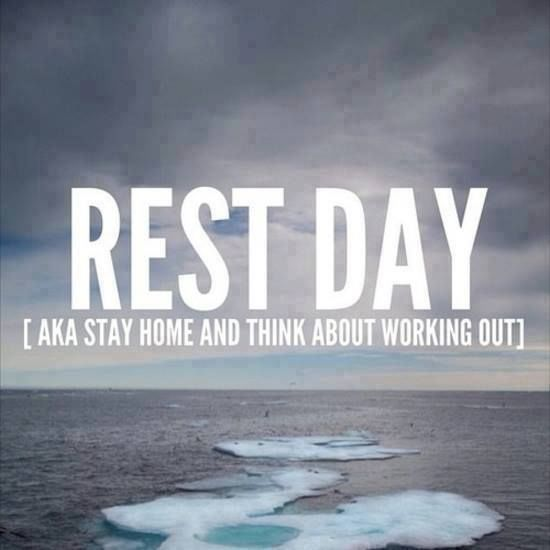 Think about working out #restday #run #fitness #workout #motivation #inspiration {PilotingPaperAirplanes.com}