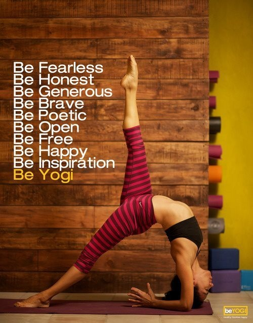 Be fearless #inspiration #motivation #health #fitness #yoga #run {PilotingPaperAirplanes.com}