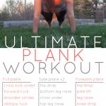 Ultimate plank workout {PilotingPaperAirplanes.com}