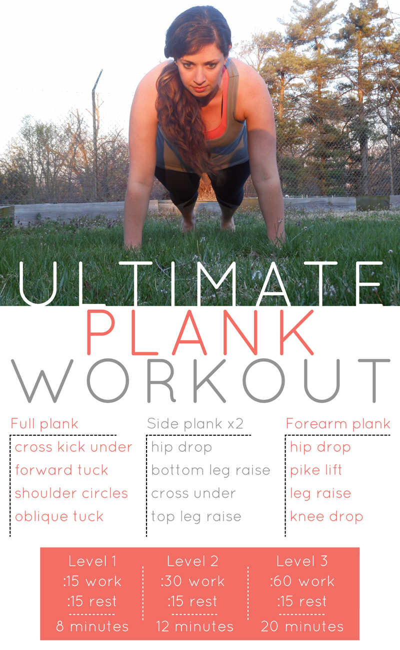 Ultimate plank workout {PilotingPaperAirplanes.com}