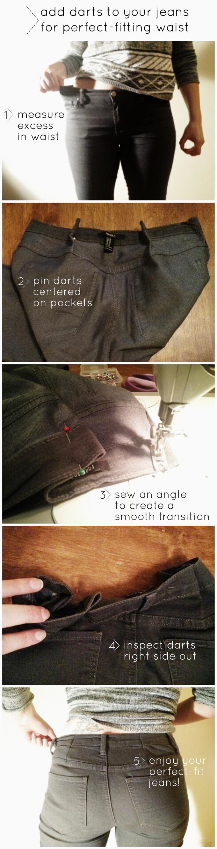 {PilotingPaperAirplanes.com} 3 hacks for perfect jeans, denim, diy