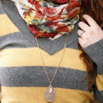 style, fashion, outfit of the day, stripes, floral {PIlotingPaperAirplanes.com}